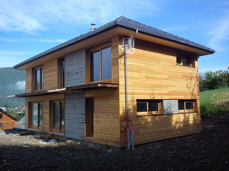 les toits du tri ves r alisation maison ossature bois bbc gr sy sur aix 2012 2013. Black Bedroom Furniture Sets. Home Design Ideas