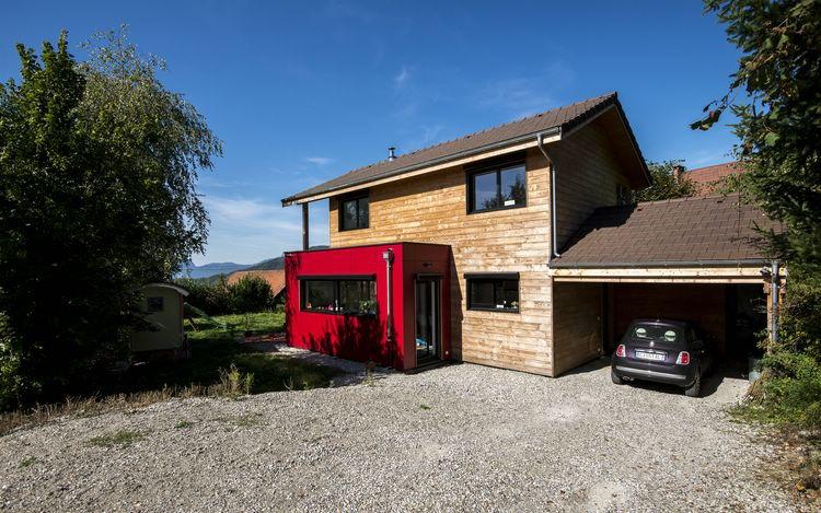 les toits du tri ves r alisation maison ossature bois labellis e bbc saint martin d uriage. Black Bedroom Furniture Sets. Home Design Ideas