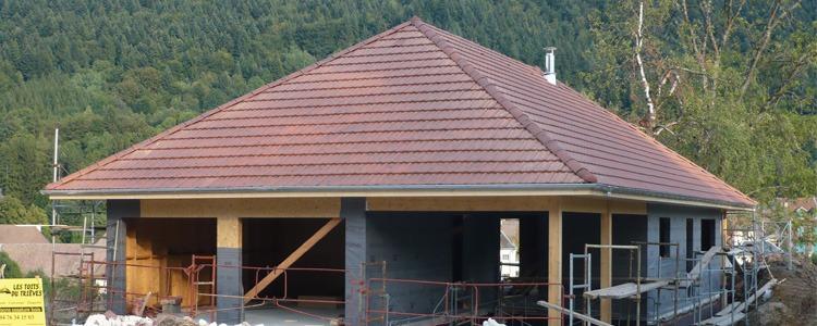 les toits du tri ves r alisation ossature bois monestier de clermont. Black Bedroom Furniture Sets. Home Design Ideas